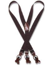 Brown Suspenders Y Shape