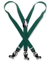 Forest Hunter Green Suspenders