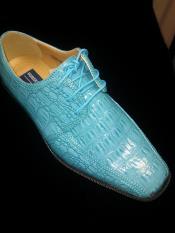 Royal blue men's dress shoes