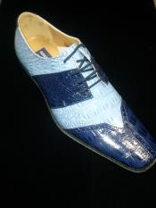 Royal blue men's dress shoes