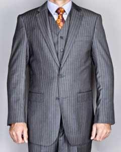 Grey 2Button Vested Suit