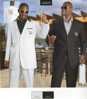 Pocket White Suit With