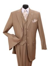 Chalk Gangster Pinstripe Tan
