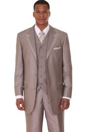 Tan ~ Beige Vested