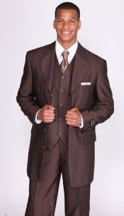 Brown Herringbone Tweed Vested