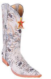 SKU#KA5587 Men's Los Altos COWBOY Fashion Western Boots Riding Oryx Denim XXX 3x Toe