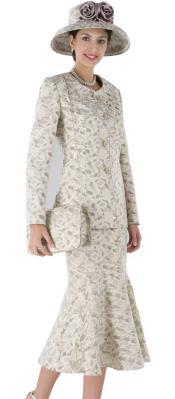Dress Set Grey/Gold $139
