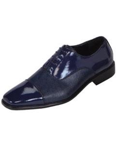 Blue Classic Patent Cap-Toe