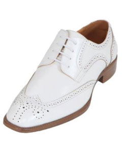 White Classic Smooth Dress Shoe