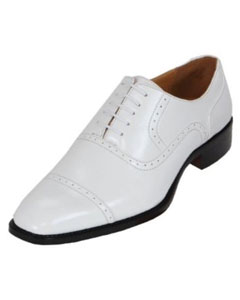 SKU#KA8968 Men's White Oxford Dress Shoe