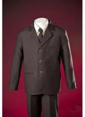 Notch Lapel Brown Pinstripe