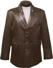 classic 3-button blazer (brown