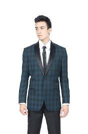 Teal Glen Plaid Slim