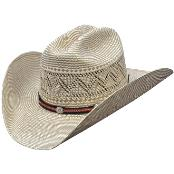 SKU#KA5688 Los Altos Hats-Two Tone Rodeo Straw Cowboy Hat - Two Tone Green and Natural