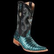 botas de cocodrilo negras