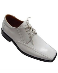 Oxford Faux Croc-Embossed Leather Dress Shoes