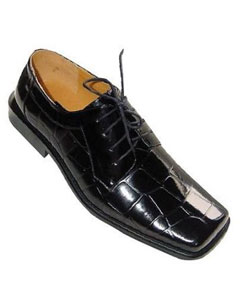 Shiny Croc Pattern Oxfords