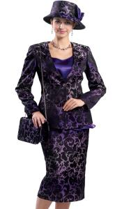 SKU#KA6124 Lynda Couture Promotional Ladies Suits- Purple Multi
