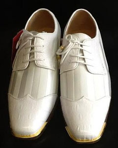 Mens Two Tone Shoes White