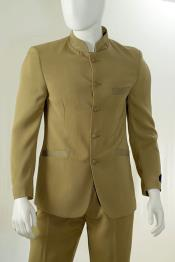 Piece Mandarin Collar Suit
