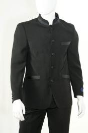 Piece Mandarin Collar Suit