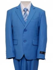 Boys Kids children Suit Royal Blue