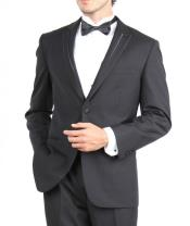 SKU#PN-U71 Tapered Leg Lower Rise Pants & Get Skinny Slim Fit Two Button Tuxedo