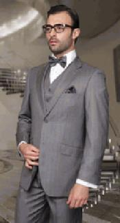 Pinstripe Gray 3 Piece