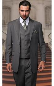 Pinstripe Oxford Gray 3