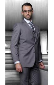 Pinstripe Charcoal 3 Piece