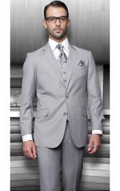 Statement Pinstripe Solid Gray