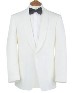 SKU#PN-B69 $500 Reg price Gorgio White or Ivory Tuxedo Jacket with Shawl Lapel 1 button on sale online deal