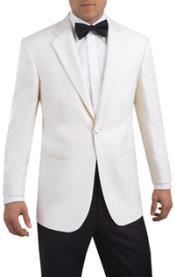 SKU#BM19 Single Button, 2 piece Tuxedo White Notch Lapel