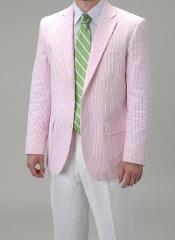 Pink Seersucker Blazer