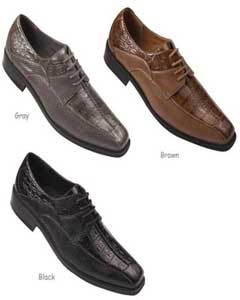 Mens Faux Embossed Leather