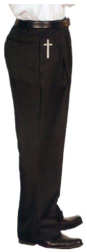 Trousers With Crosses Black