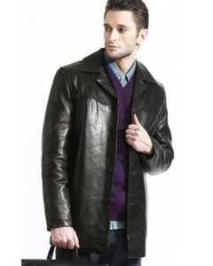 Mens Classic Lambskin Half-Coat