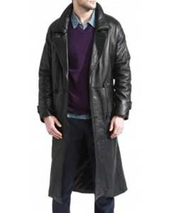 Mens Trench Coat Black