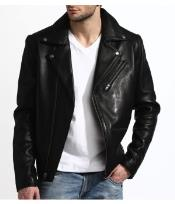 Mens Lambskin Military Leather