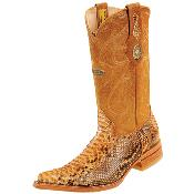 SKU#PNN52 Wh-Dimond Western Cowboy Boot Bota Piton Horma Chihuahua Mantequilla