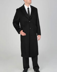 Harvard Black Wool-cashmere Full-length