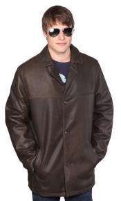Alden Leather Jacket Dark
