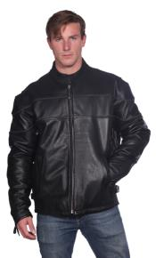 Astor Leather Jacket Black