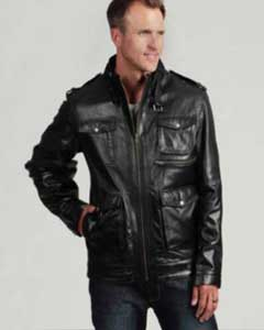Mens Black Buffalo Leather