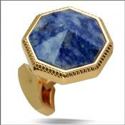 Angelino Cufflink Blue $45