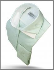 Double Collar Shirt Green
