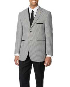 Mens Black Houndstooth Four-piece