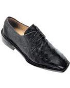 Fabio Ostrich Shoes Black
