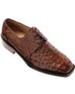 Fabio Ostrich Shoes Brown