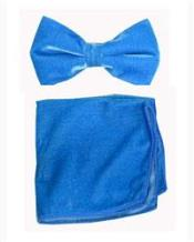 Bowtie with Hanky Turquoise